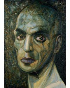 Marino Benigna, Testa, olio su tela, 70x100 cm, 2009