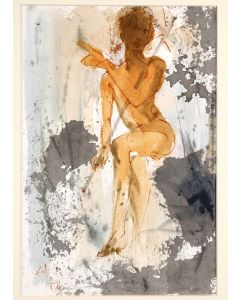 Salvador Dalì, Ipse erat Elias, litografia, 50x39 cm, tratta da La Sacra Bibbia, 1967