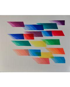 Piero Dorazio, Senza titolo, serigrafia, 96x78,5 cm, 1990