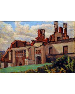 Giovanni Malesci, La Montanina di Fogazzaro, olio su tela, 28x21 cm, 1918