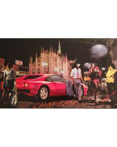 Pisati da Milano, Chapeau Duomo, retouché su tela, 100x70 cm