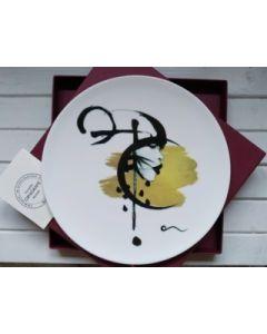 Ornella Micheli, Inter sidera versor, piatto in porcellana bone china, diametro 28 cm