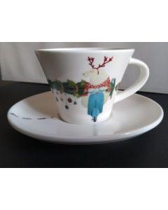 Maxacolori (Massimiliano Milano), Chi non sale è un orso, tazza con piattino in porcellana