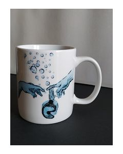 Blub, Michelangelo, mug (tazza) in porcellana, h 9,5 cm