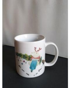 Maxacolori (Massimiliano Milano), Chi non sale è un orso, mug (tazza) natalizia in porcellana, h 9,5 cm