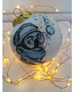 Blub, Dalì, pallina di Natale in porcellana, h 7,5 cm