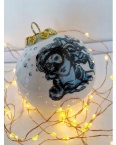 Blub, La Venere di Botticelli, pallina di Natale in porcellana, h 7,5 cm