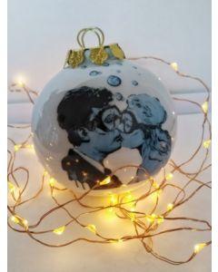 Blub, La Dolce Vita, pallina di Natale in porcellana, h 7,5 cm