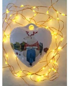 Maxacolori (Massimiliano Milano), Chi non sale è un orso, cuore di Natale in ceramica