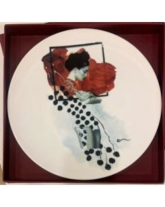 Ornella Micheli, Quod oculus videt Quod vult videre, piatto in porcellana bone china, diametro 28 cm