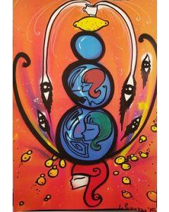 La Pupazza, Donna instabile, grafica su PVC, 31x47 cm