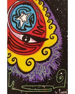 La Pupazza, L'occhio sulla città II, grafica su PVC, 31X47 cm