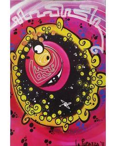 La Pupazza, Occhio magico, grafica su PVC, 31X47 cm