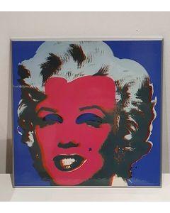 Marilyn Monroe, stampa su pannello, 26x26 cm (blu)