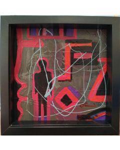 Carlo Massimo Franchi, Kaleidos Easy, tecnica mista su forex, 25x25x4 cm (con cornice)