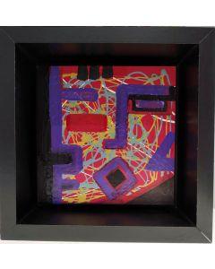 Carlo Massimo Franchi, Kaleidos Cube, tecnica mista su mdf, 53x33x10 cm (con cornice)