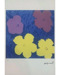 Andy Warhol, Flowers, serigrafia su carta Arches France, 56,5x38 cm, 53/100