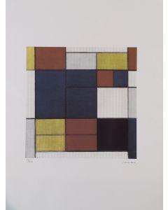Piet Mondrian, Senza titolo, litografia, 66x50 cm