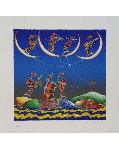Meloniski da Villacidro, Concertino, retouchè, 72x72 cm