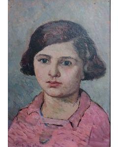 Giovanni Malesci, Testa di Anna, olio su tavola, 26x36 cm, 1925