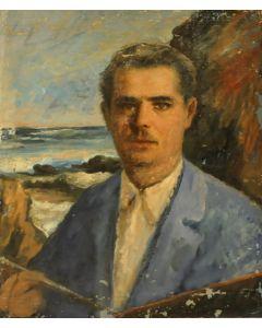 Giovanni Malesci, Autoritratto, olio su tavola, 58x49 cm, 1925