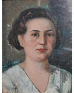 Giovanni Malesci, Testina dell'Anna, olio su tavola, 38x30 cm, 1933