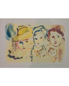 Ernesto Treccani, Senza titolo, serigrafia, 50x70 cm