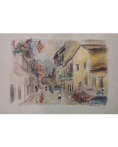 Michele Cascella, Senza titolo, serigrafia, 50x70 cm