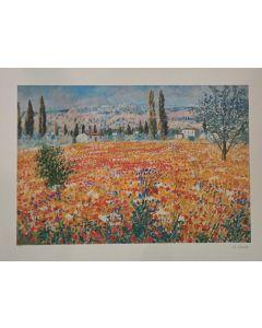 Michele Cascella, Senza titolo, serigrafia, 80x60 cm