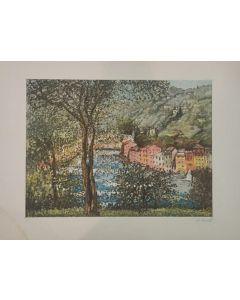 Michele Cascella, Senza titolo, serigrafia, 86x64,5 cm