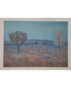 Michele Cascella, Mattutino di primavera, serigrafia polimaterica d'après, 60x80 cm