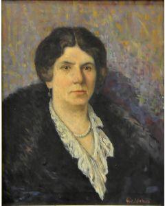 Giovanni Malesci, Ritratto di Teresa Cantoni, olio su tela, 59x47 cm, 1911