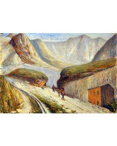 Giovanni Malesci, Le Apuane, Olio su tela, 48x35 cm, 1950