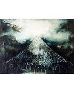 Enzo Rizzo, Terra celeste 1, olio e smalto su tavola, 62,5x84 cm