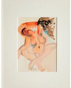 Salvador Dalì, Gli indolenti, xilografia, 26x33 cm, tratta da La Divina Commedia, 1951-60