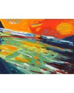 Togo, Mediterraneo 2, olio su tela, 30x40 cm