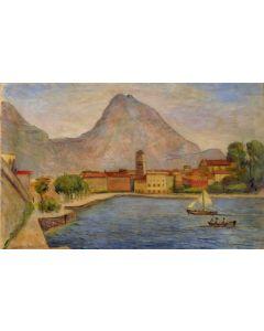 Giovanni Malesci, Riva del Garda, olio su tela, 67x43 cm, 1953