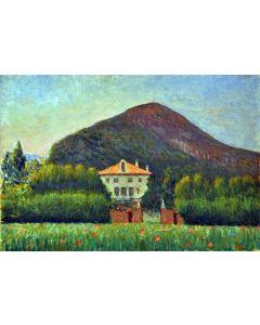 Giovanni Malesci, Monterosso, olio su tavola, 48x35,5 cm, 1965