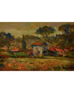 Antonio Sbrana, Senza titolo, olio su tavola, 20x30 cm