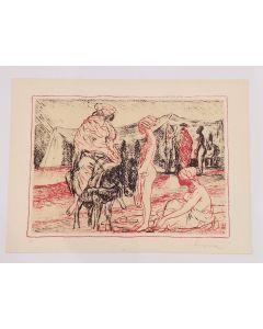 Salvatore Fiume, Somale, serigrafia su carta, 50x70 cm, prova d'artista