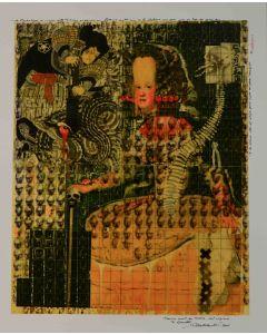 Enrico Pambianchi, Il gemello, tecnica mista su faesite, 40,1x48 cm, 2011