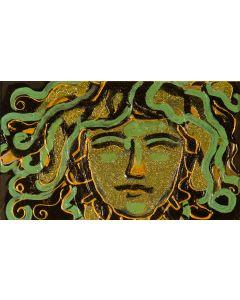 Carlo Massimo Franchi, Medusa, tecnica mista, 14x24 cm