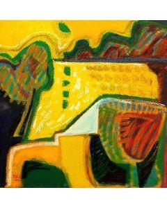 Togo, Mediterraneo 4, olio su tela, 40x40 cm