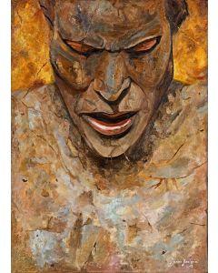 Marino Benigna, Figlio della tenebra (Studio), olio su tela, 50x70 cm, 2009