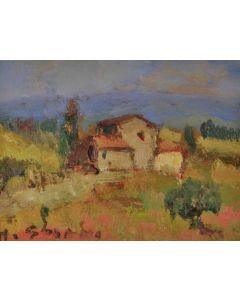 Antonio Sbrana, Senza titolo, oli su tavola, 15x20 cm