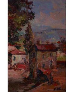 Antonio Sbrana, Nugola, olio su tavola, 30x20 cm