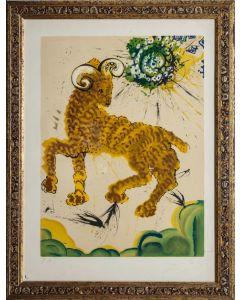 Salvador Dalì, Ariete, litografia, 80x60 cm, tratta da Twelve Signs of the Zodiac, 1967