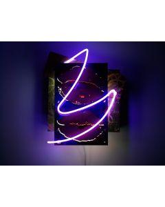 Christian Gobbo, Vuoti, neon su ferro, rame, ottone, 42x49x22 cm
