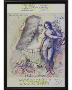 Giancarlo Prandelli, Isabella d'Este retouchè, 21x29,5cm (R3)