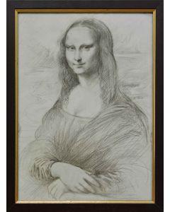 Giancarlo Prandelli, Omaggio alla Gioconda, matita su cartoncino, 33x23.5cm (D146)